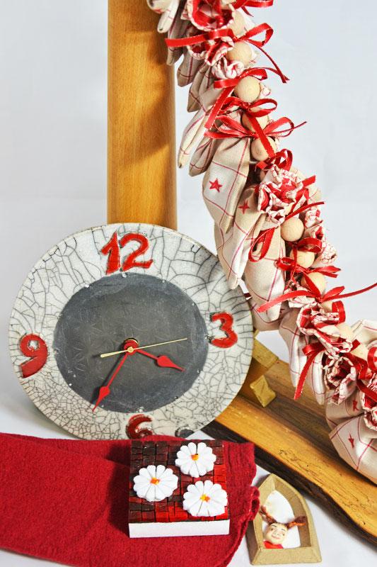 Adventkalender, Keramikuhr, Mosaik
