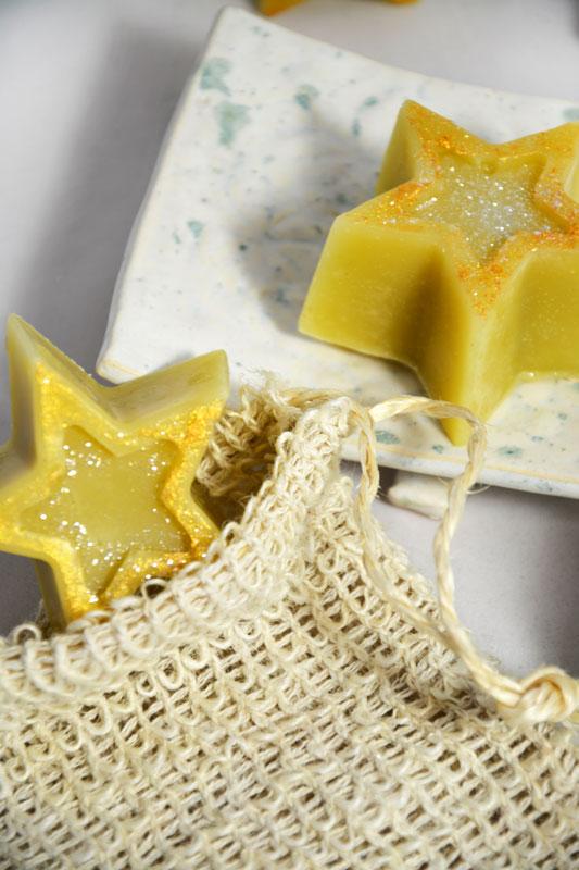 Weihnachtsseifen, Seifensäckchen, Seifenschale