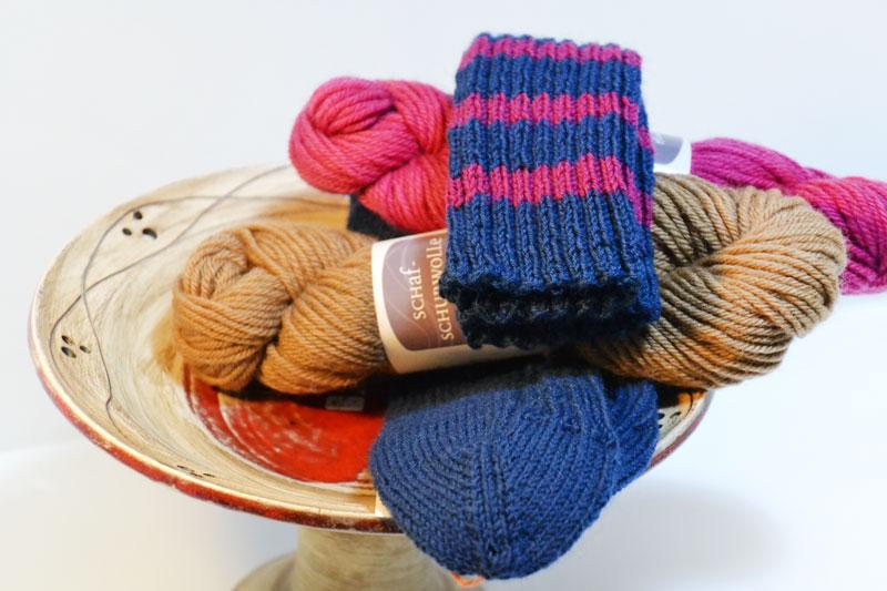 Rücherschale, Wolle, Socken