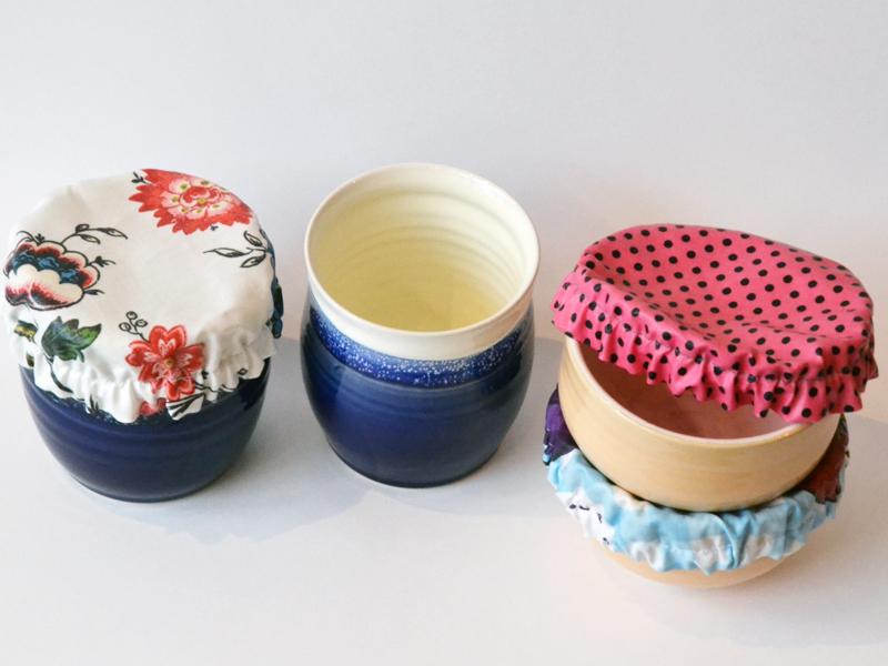 Keramik, textile Abdeckung
