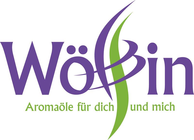 """Logo Wölfin in violett und grün mit geschwungenem """"l"""" und """"f"""", di emit zwei violetten Bögen zusammengehalten werden"""