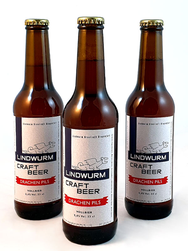 Lindwurm Craft Beer drei Flaschen